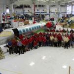 Learjet 75 включился